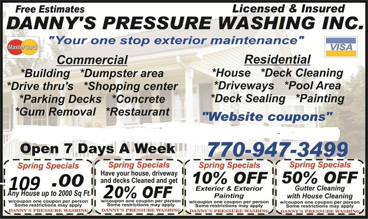 Coupons on commercial pressure washing